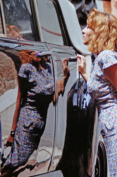 She Car Reflection The Portraitist - 2016 EyeEm Awards Dali Museum Meinautomoment