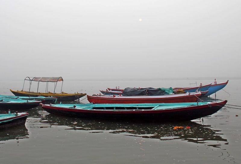 Boats⛵️ EyeEm Best Shots EyeEm Selects Gange Ganges River Sadhu Of India Varanasi, India Ganges, Indian Lifestyle And Culture, Bathing In The Ganges, Beach Day Eyeemasia Eyeematmosphere Eyeemindia Ganges Ghat Indiapictures Indiatravel Indiatraveller Mode Of Transport Moored Nature Nautical Vessel No People Outdoors Sea Sky Transportation Varanasi Ganges Varanasi India Water