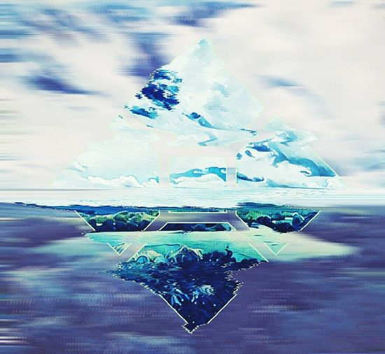Torn Away Vaporwave Beauty In Nature Tranquility Water Surface Cloud - Sky Cold Temperature Water Sky Scenics Tranquil Scene Geauxst Edit Edits Creativity Nature