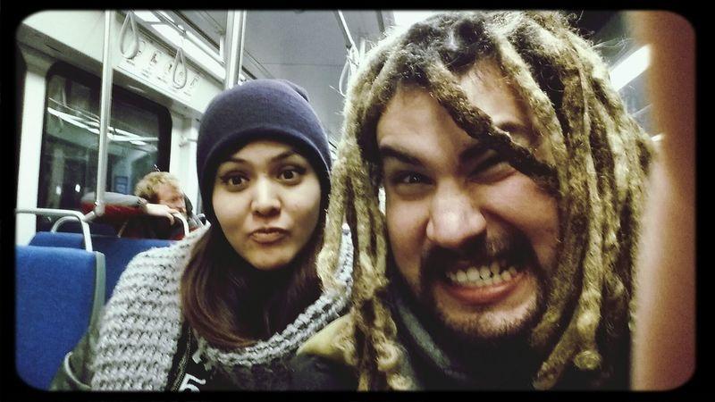 Being weirdos on the train Goofballs Train Trax Pals