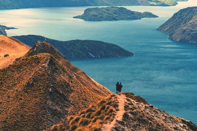 Connected By Travel EyeEm Selects Friends Landscape Nature Hiking Adventure People Scenics Vacations Beauty In Nature Outdoors New Zealand Mood Mountain EyeEm Landscape Travel Destinations Roys Peak