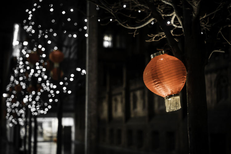 35mm Bokeh Bokeh Lights Bokeh Photography Celebration Chinese Chinese New Year City Decoration Glowing Hanging Illuminated Lantern Light Lighting Equipment Lit Manchester Night Sony Sony A6000 Spinningfields Uk Urban Welcome To Black
