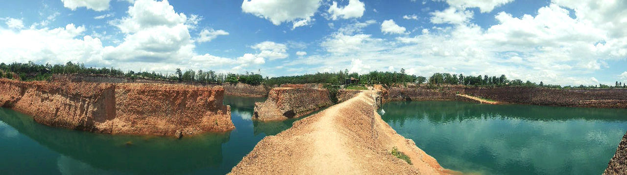 Beauty In Nature Canyon Cloud - Sky Day Landscape Nature No People Outdoors Rural Scene Scenics Sky Thailand Travel Water