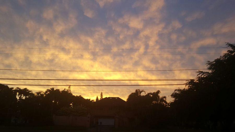 Sunset Orange Color Dramatic Sky Cloud - Sky Outdoors Beauty In Nature Kauai Life Omao Tranquil Scene