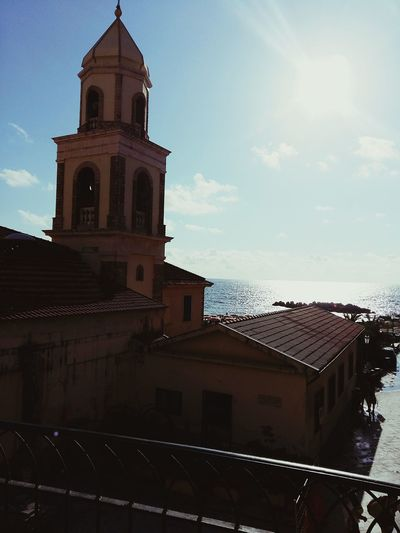 Battle Of The Cities Castellabate Italia Italy Architecture Sun Built Structure Sunny Church Waterfront Sky Sunlight