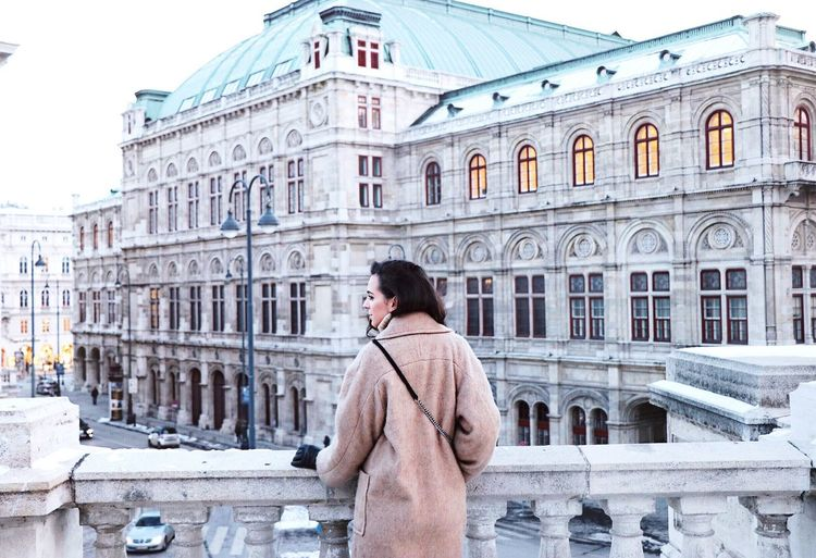 minusgrad Winter Building Exterior City Warm Clothing Cultures Cold Temperature Architecture Love Check This Out Taking Photos Hello World Vienna Enjoying Life EyeEm Best Shots IPhoneography Eye4photography  Beautiful Built Structure Cheese! Young Women Hi! That's Me