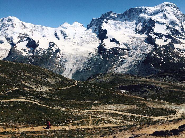 Mountains Snow Mountain Swiss Alps Zermatt Hiking Hiking Trail The Great Outdoors - 2016 EyeEm Awards