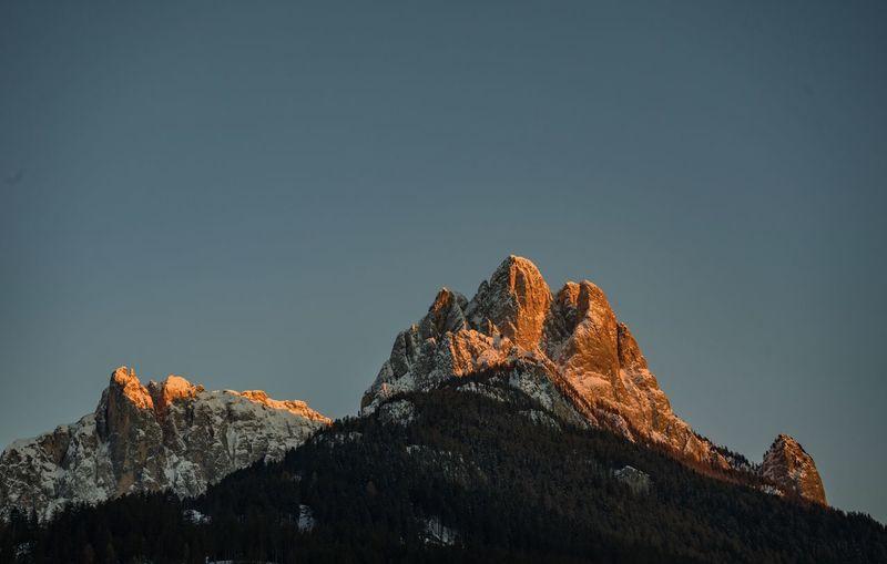 Sunset in Dolomites Outdoors Mountain Peak Nature Mountain Sunset Pozza Di Fassa Dolomites Dolomites, Italy EyeEmNewHere