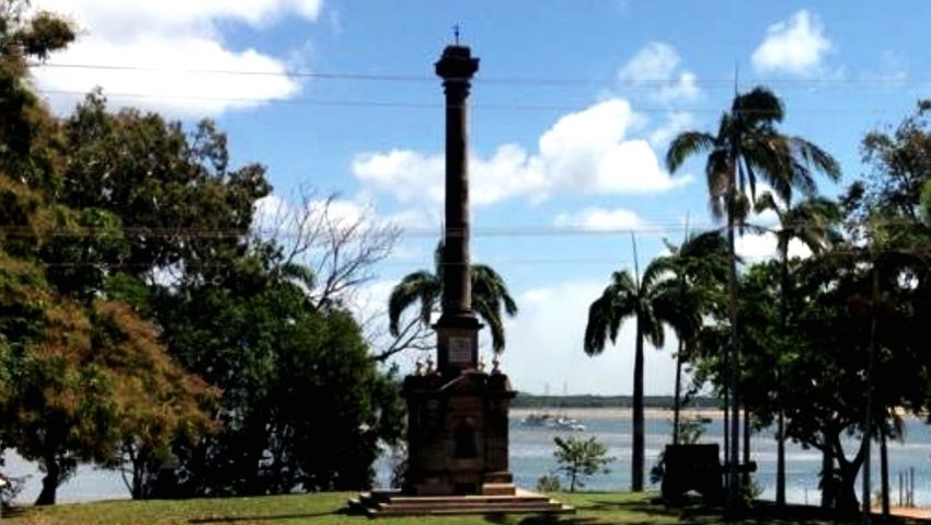 Captain Cook Cooktown Historical Monuments Blue Sky Sky And Clouds Scenic View Water Cape York