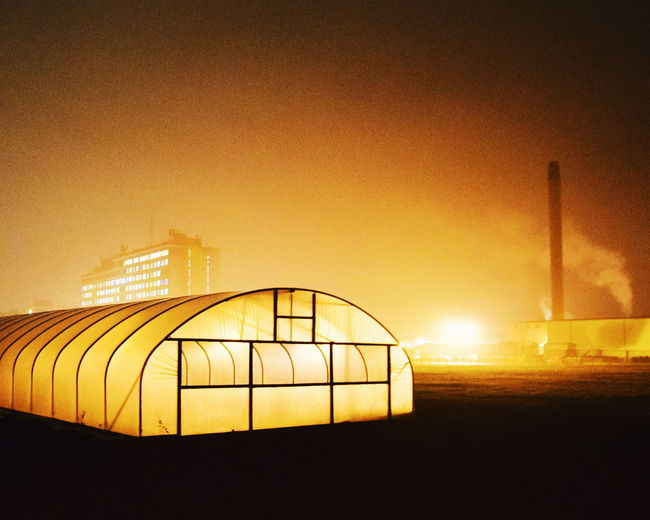 Bladerunner aesthetic. Illuminated Bladerunnerinspired Bladerunner Night Shot Night Lights Nightscape Night Photography Nightphotography Farm Agriculture Backlit Backlit Subject Polytunnel Polytunnels Contemporary Photography Contemporaryphotography