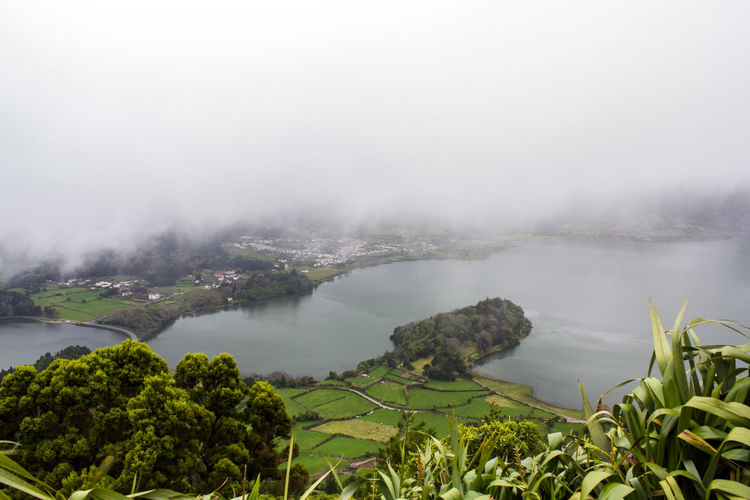 Lagoon of the Seven Cities in Azores Azores Green Nature Scenic Wanderlust Beauty In Nature Environment Fog Foggy Island Lagoon Lake Landscape Nature No People Non-urban Scene Outdoors Peaceful Scenics - Nature Tranquil Scene Tranquility Volcanic  Volcanic Crater Wonder