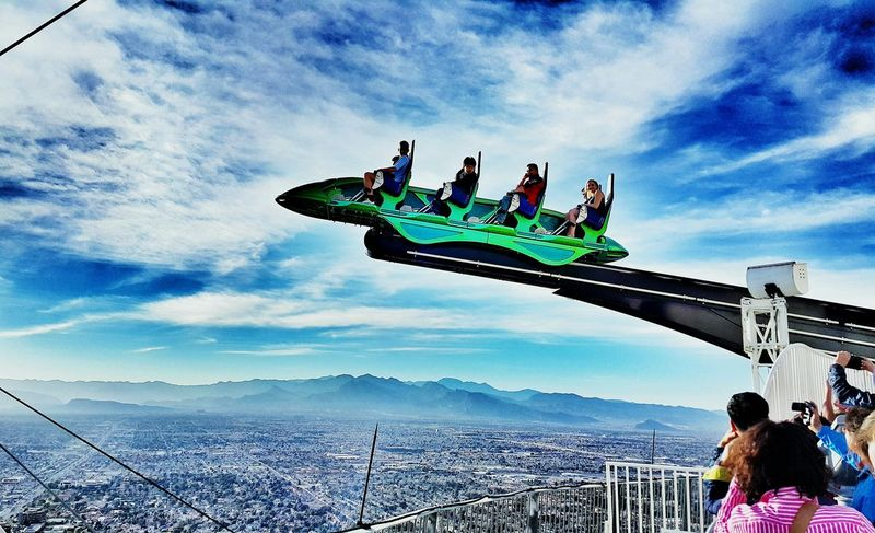 USA Photos Cloudpark Ride Going On Rides Thrill Rides Clouds And Sky Lasvegas Cityscapes The Human Condition Activity Advanture Streamzoofamily Seeing The Sights Skypark
