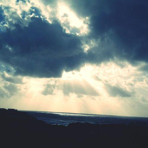 Sun Sky Clouds Beach Mountain Tangier Morocco