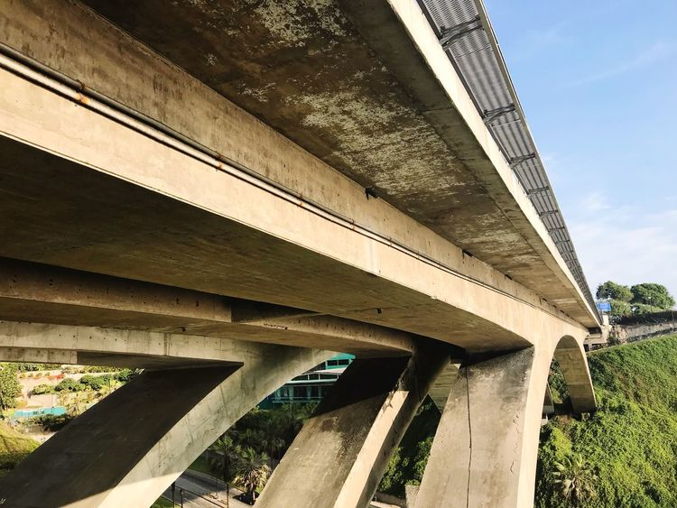Bridge - Man Made Structure Connection Architecture Built Structure Transportation Low Angle View Below Day Outdoors Architectural Column Bridge Underneath No People Under Sky EyeEmNewHere Perspectives On Nature