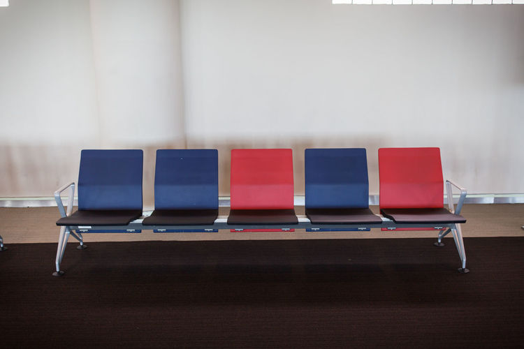 Empty chairs in waiting room
