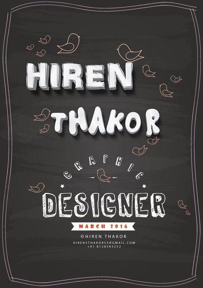 Graphic Graphic Design Promo Beautiful Advertisement Photoshop Illustrator Orignal Felling Good  Hiren Thakor