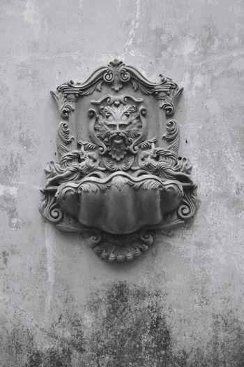 Close-up Full Frame Male Likeness Doorknob Sculpture Idol Detail