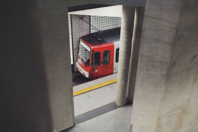 Trainstation 🚉 Transportation No People Day Architecture Built Structure Red Outdoors Köln Heumarkt  Underground Underground Station  Tramm Train City Stadt EyEmNewHere