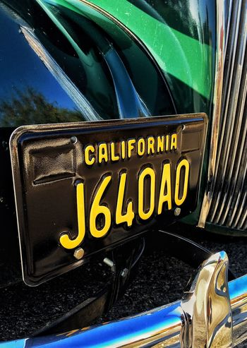 Black Color Text Car No People Vintage Cars Outdoors Chevrolet Chevy Transportation Land Vehicle Mode Of Transport California License Plate Yellow The Week On EyeEm Close-up Car Plate Car Grill Car Bumper Green Streetphotography