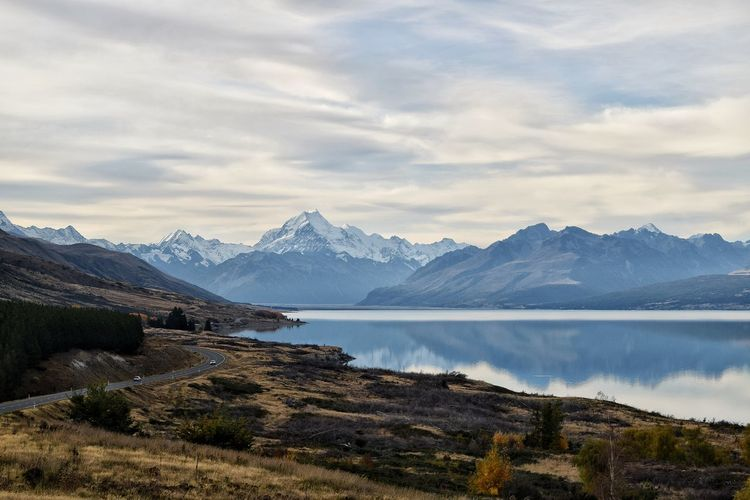 Mountain Scenics Tranquil Scene Mountain Range Lake Water Tranquility Majestic Non-urban Scene Tourism Beauty In Nature Travel Destinations Idyllic Sky Nature Physical Geography Cloud - Sky Wilderness Vacations Ethereal New Zealand Landscape New Zealand Scenery Mtcooknationalpark Lake Tekapo