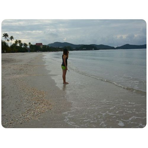 almost one year, your name getting strangeness,but i still remember you,i still miss you.?? Missyou Miss You Beach view beachview instapic sunshine asianlife langkawi pantaicenang