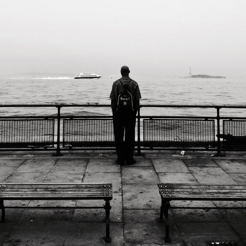 Streetphotography Blackandwhite Statue Of Liberty Looking Out