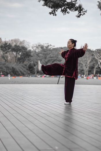 TaiQi Tai Chi Chuan Tai Chi Park Outdoor Photography China Shanghai Health Activitiy Sport