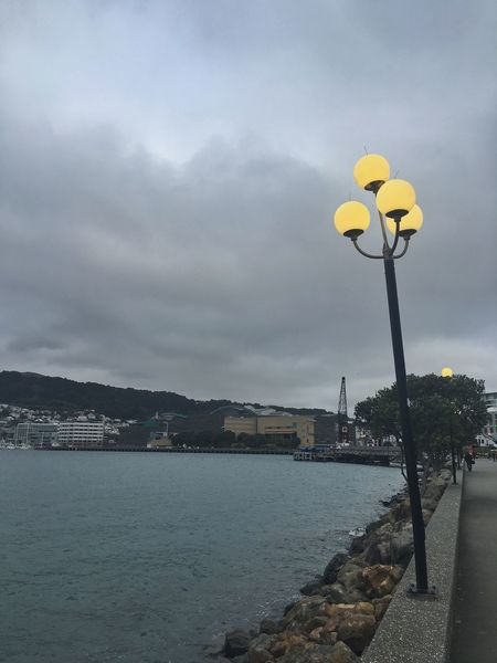 Lamppost on a definite lean Lamppost Lights On Waterfront On A Lean Not Straight