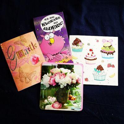 Alla fina kort jag fick precis till min födelsedag :) ♡ Lovemyfamily
