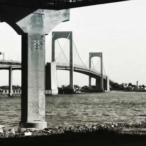 Queens NYC NYC Parks My City NYC Photography NYC Black And White. NYC Sunset Bridge Bridge And Tunnel Water City Bridge - Man Made Structure Sea Sky Architecture Built Structure
