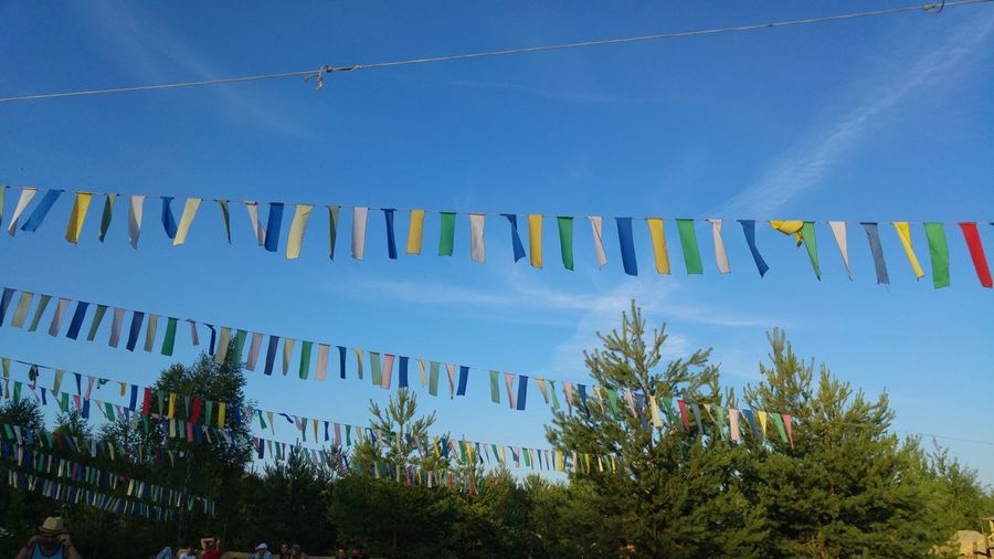 party Party Decoration Mid Summer Festival Festival Season Déco EyeEm Selects Multi Colored Blue Sky