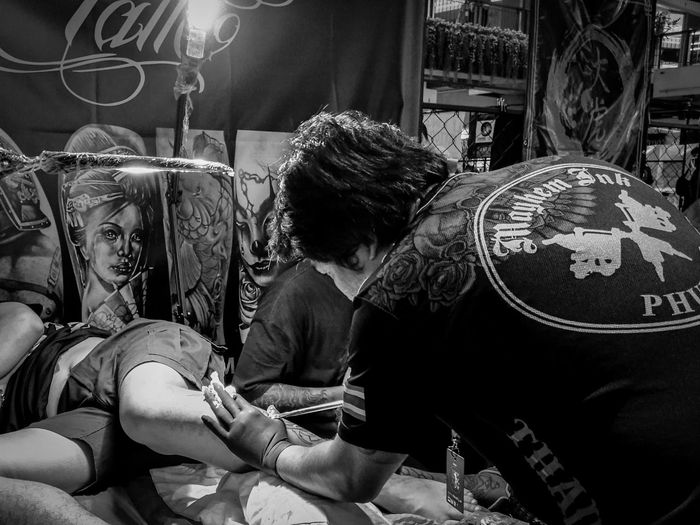 Making a Tattoo in Thai style Lifestyles Travel Photography Thailand🇹🇭 Blackandwhite OpenEdit Open Edit Streetphotography People EyeEm Best Edits Best Of EyeEm Ko Samui Ko Samui Thailand