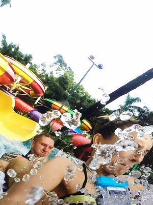 Fun Summer Water Park Fun Water Slide