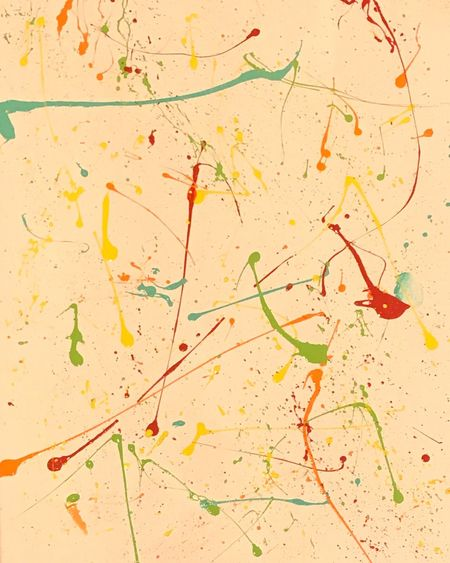 Paint splatter on a canvas Canvas Painting Paint Splatter EyeEm Selects Multi Colored Abstract Backgrounds Paper Green Color Paint