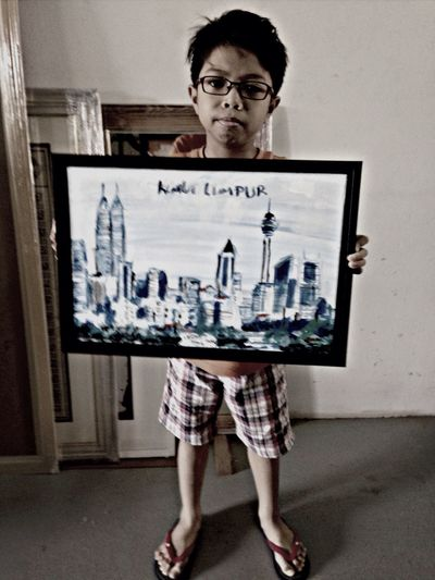 Naeem with his piece for his special royal birthday gift