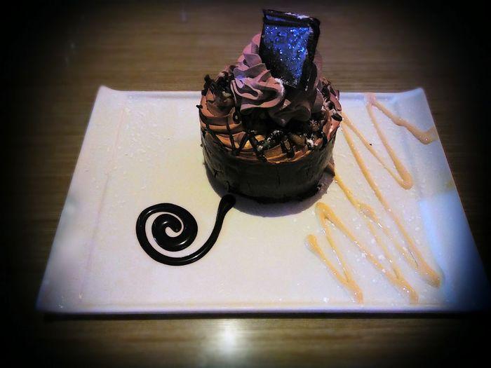 EyeEm Selects Close-up Chocolate Cake Dessert Temptation Chocolate Sauce Mousse Cake