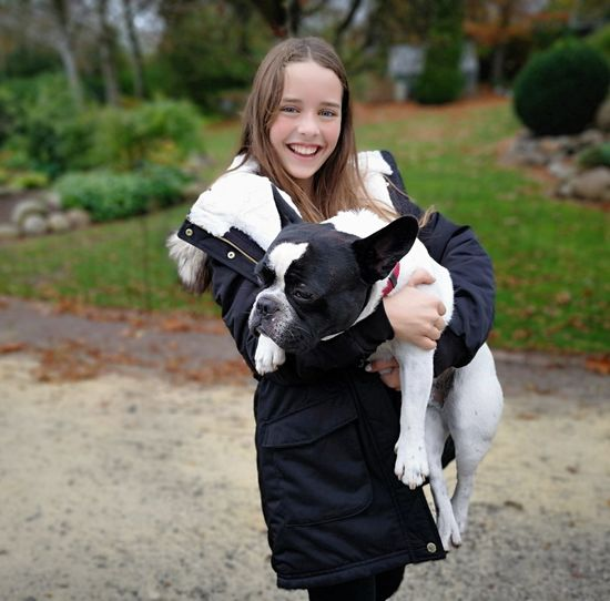 My beautifull daughter with her not so beautyfull French Bulldog. He snores, he farts terribly, but she loves him....unconditionly. Pure Love ❤ Pet Love Warm Clothing Blond Hair Portrait Smiling Happiness Looking At Camera Girls Rural Scene Cheerful Pets Dog