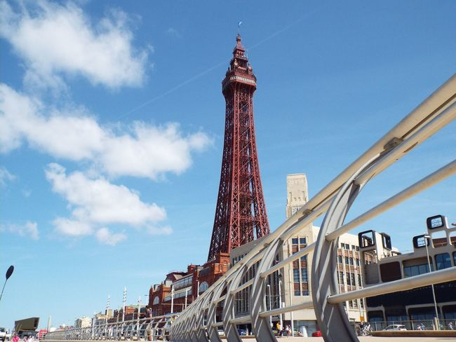 Historical Sights Tourism Tourist Attraction  Summer 2016 Summertime The Essence Of Summer Blue Sky Metal Structure Blackpool Tower Railing