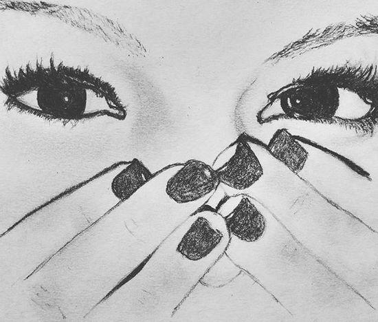 Myfirsteverportrait Satisfaction Love Eyes Mylove ❤ Saintvalentine Pencilwork @ross.ella_