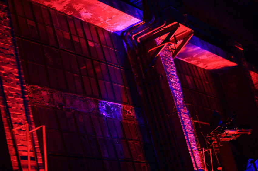 Architecture Illuminated Industrial Industrial Heritage Inustrial  Neon Night No People Red