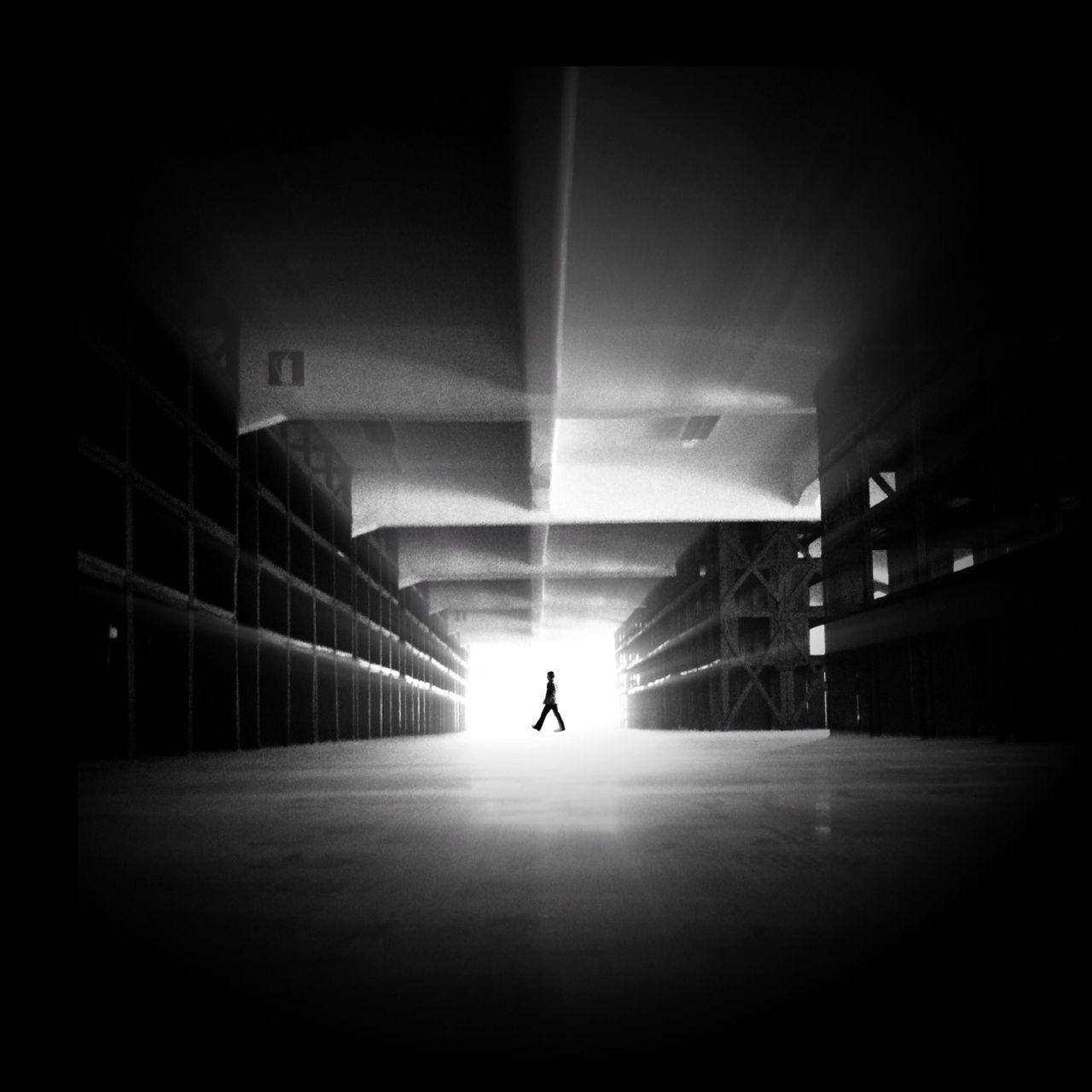 Side View Of Man Walking In Museum