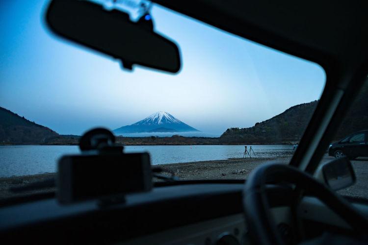 Japan Japan Photography  And Sky Clouds  Car Fujiyama Glass - Material Mountain Nature Scenics - Nature Sky Water