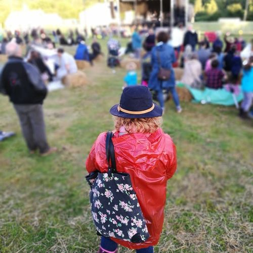 Rear View Grass Focus On Foreground People One Person Outdoors Red Women Hopsandharvestfestival Huawei P9 Leica Kentlife Arts Culture And Entertainment