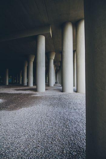 Interior of columns