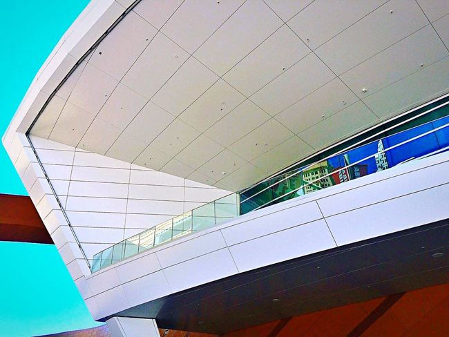 Observation deck, T Mobile Arena. Architecture Built Structure Low Angle View Building Exterior No People Modern Sky Lookingup Postmodern  Picturing Las Vegas Modern Architecture Travel Destinations Eyeemphoto This Week On Eyeem IPhoneography Malephotographerofthemonth Observation Deck Minimalist Minimalobsession Minimalism Lessismore The Street Photographer - 2017 EyeEm Awards The Architect - 2017 EyeEm Awards