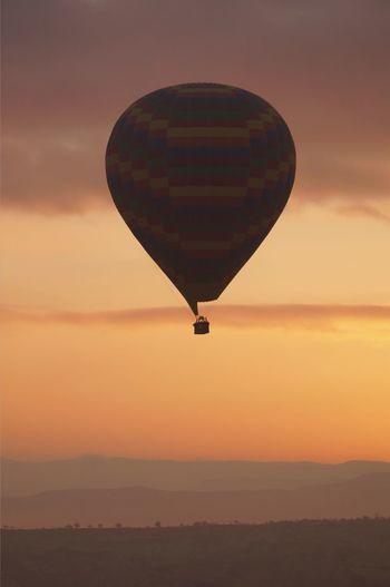 Turkey -air balloon Sunset Sky Hot Air Balloon Nature Beauty In Nature Mid-air Adventure Day