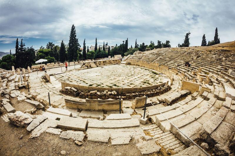 Theatre of Dionysus Acropolis Ancient Architecture Athens Built Structure Capital Cities  History Monument Restoring Rock Stone The Past Theatre Theatre Of Dionysus, Athens Tourism Travel Travel Destinations