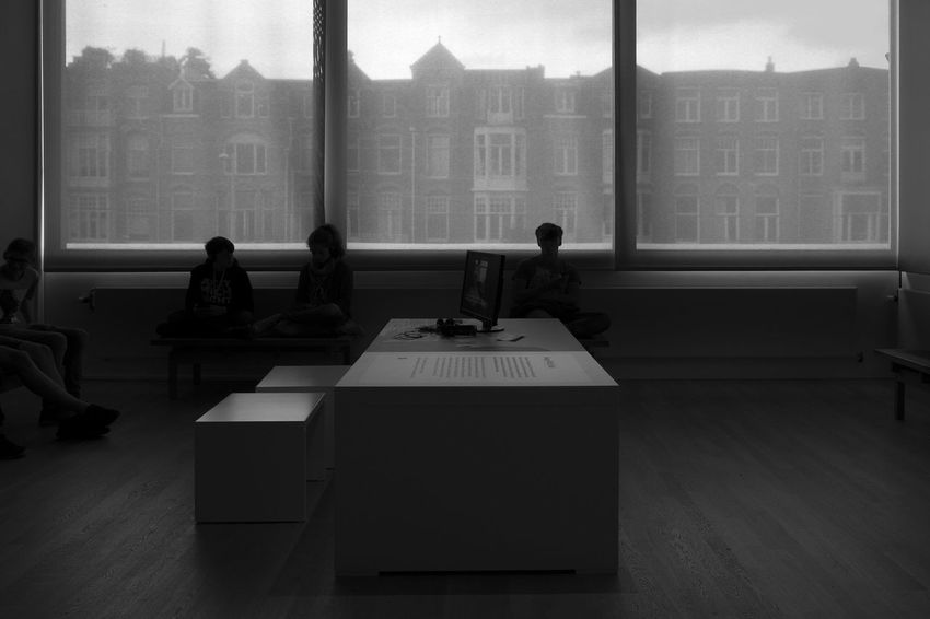 Inside Van Gogh Museum Amsterdam Archineos B&n B&w Black And White Blanco Y Negro Facades Holland Indoor Monochrome Museum Netherlands Silhouette Ugo Villani Van Gogh Museum