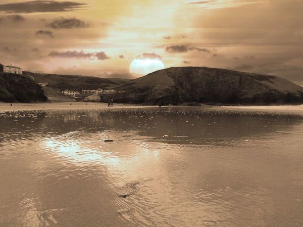 walking through a portreath sunset. Landscape_Collection Eyem Best Edits Eye4photography  Sky_ Collection