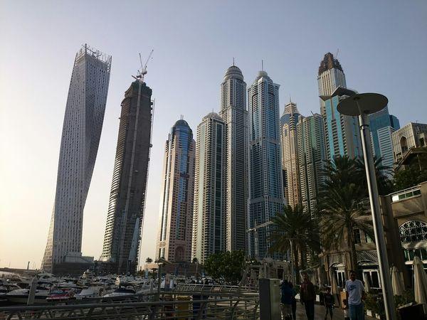Dubai Dubaimarina Yachtlife Beautifulbuildings Waterreflections  Jumeirah Yacht Marina Port UAE